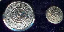1  ( ONLY ONE )old obsolete AKRON Police Button 1/2 inch diameter