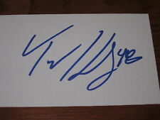 Tyler Kennedy Autographed 3X5 Index Card-Penguins
