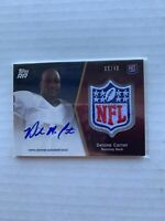 2011 DELONE CARTER Topps Rising Rookies NFL Shield /40 #SRAP-DC RC Auto Patch