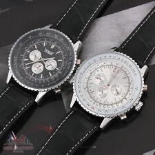 2x HERREN UHR Luxus Watch Automatikuhr Edelstahl Armbanduhr A034 Schwarz + Weiß