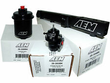 AEM High Volume Fuel Rail + Adj Pressure Regulator + Filter 97-01 Prelude H22A4
