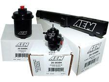 AEM High Volume Fuel Rail + Adj Pressure Regulator + Filter 97-01 Prelude H22A4