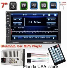 7'' Double Din HD Car Touch LCD Screen Stereo Audio Radio MP5 Player Bluetooth