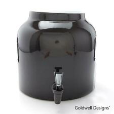 Goldwell Designs® Solid Black Porcelain Water Dispenser Crock (DS131)