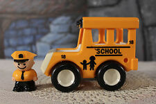 Vintage Tonka School Bus # 18 Bandai for Square People 1987 with driver
