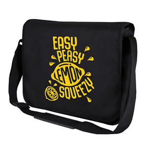 Easy Peasy Lemon Squeezy Fun Sayings Negan Motif Shoulder Bag Messenger Bag