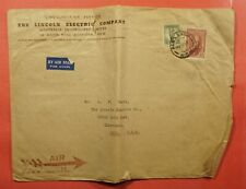 Dr Who 1947 Australia Lincoln Electric Co Alexandria Airmail To Usa Lc219931