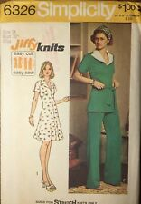 Vintage 1970s Sewing Pattern SIMPLICITY #6326 MINI DRESS Pantsuit Size 14 Bst 36