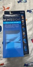 "Mission Multi-Cool Gaiter Size 10"" x 21"" Color Blue Brand New"