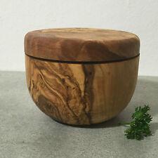 Salztopf Olivenholz / Gewürz-Dose / Holzdose,  Handarbeit