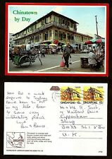 SINGAPORE VINTAGE  POSTCARD -STAMP-SINGAPORE-CHINATOWN...