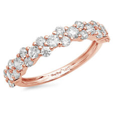 0.7ct Round Cut Designer Bridal Promise Wedding Anniversary Band 14k Rose Gold