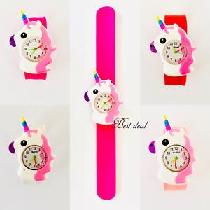 Unicorn Watches Children Quartz Analogue 3D Wrist Watch Fashion Snap Type Strap
