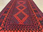 Afghan Hand Knotted Woven Maimana Ghulmori Wool Kilim Kilm Area Rug 6.5 x 3.3