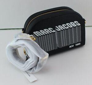 NEW AUTHENTIC MARC JACOBS BLACK LEATHER HANDBAG CROSSBODY WOMEN'S M0014790