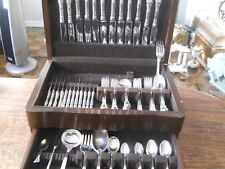 BIRKS STERLING CHANTILLY 80 PC SET For 8 2299grams w/ Chest