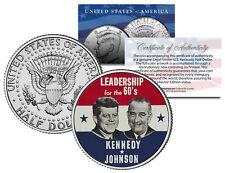 JOHN F KENNEDY & LYNDON B JOHNSON Presidential Campaign JFK Half Dollar US Coin