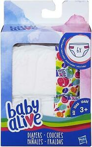 Baby Alive Diapers Single Pack 6pc Doll Changing Play Accessories Supplies