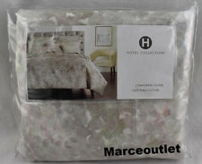 Hotel Collection Speckle Printed QUEEN Duvet Cover & Standard Shams Gray - Pink