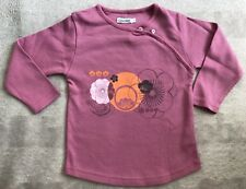 OBAIBI Japanese Style Plum Cotton Top Size 18m EEUC. Combined Post