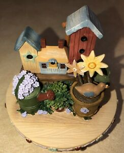 Our America Candle Topper/Capper Yankee Candle Birdhouses Flowers Watering can