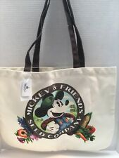 Disney Parks Tote Bag Epcot Flower And Garden 2019 Mickey's Seed Co.  Canvas NWT