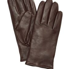 Charter Club Wool Cashmere Lined Leather Tech Gloves Brown Medium $88 NWT