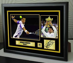 """Novak Djokovic Limited Edition Framed Canvas Tribute Print Signed """"Great Gift"""""""