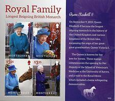 Montserrat 2016 MNH Queen Elizabeth II Longest Reigning 4v M/S Royalty Stamps