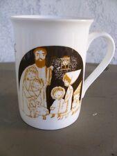Retro Artfil Mug Handled Cup La Multi Ani! Christmas Joseph Mary Baby Jesus