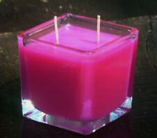 90hr FRANGIPANI & CITRONELLA Triple Scented Double Wick SOY SQUARE GLASS CANDLE