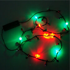 LED Christmas Holiday Flashing Bulbs Necklace String Lights Party Children Gifts