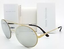 New Michael Kors sunglasses MK1027 11936G 55mm Pale Gold Round Cabo Wire GENUINE