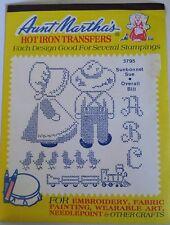 Aunt Martha's Hot Iron Transfer #3795 Sunbonnet Sue Overall Bill NEW Free Ship!