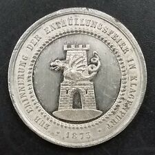 1873 Maria Theresia, Unveiling the Monument in Klagenfurt, token! 34 mm, 10.8 g.
