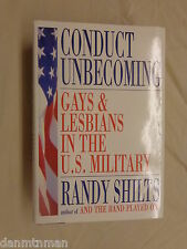 Conduct Unbecoming Gays and Lesbians in the US Military by Randy Shilts 1st Ed
