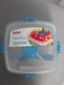 Sistema Salad to Go storage container. 37.1 oz.  #21356  Salad holder NEW