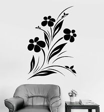 Vinyl Wall Decal Beautiful Flowers Nature Garden Bedroom Design Stickers (951ig)
