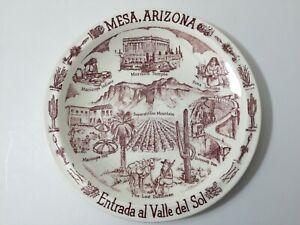 "Vernon Kilns Mesa Arizona Souvenir Plate, 10 5/8"" Diameter"