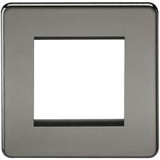 Knightsbridge sin tornillos 2G Modular Placa Frontal Níquel Negro x1