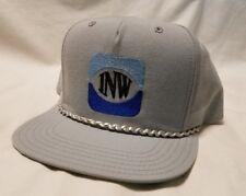 "Vintage ""INW"" NEW ERA Hat Dupont Visor Pro Model Cap Snapback Gray USA String"