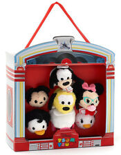 Disney Store Mickey and Friends American Diner 6 Micro Tsum Tsum Soft Toy Set