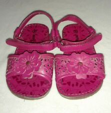 Girls toddler pink floral Amy Coe sandals shoes size 5 GUC!