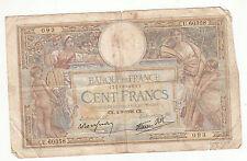 BILLET FRANCE  100  FRANCS   MERSON  4 / 8 / 1938  CK