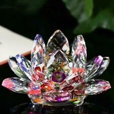 8 Colours Crystal Glass Lotus Flower Candle Tea Light Holder stick Decor Y8E6