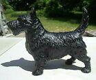 original old black painted cast iron Scotty dog door stop