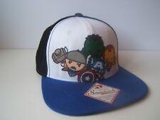 Marvel Super Heroes Hat Black Blue White Snapback Baseball Cap