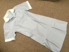 BLUE & WHITE STRIPED NURSE UNIFORM DRESS  HEALTH CARE, HOSPITALITY  size 16