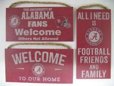 Licensed NCAA Alabama Crimson Tide Football Wood Wall Hanging Welcome Decor Sign