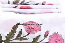 Printed Hand Block fabric in natural dye color handmade Indian cotton 10 Yard